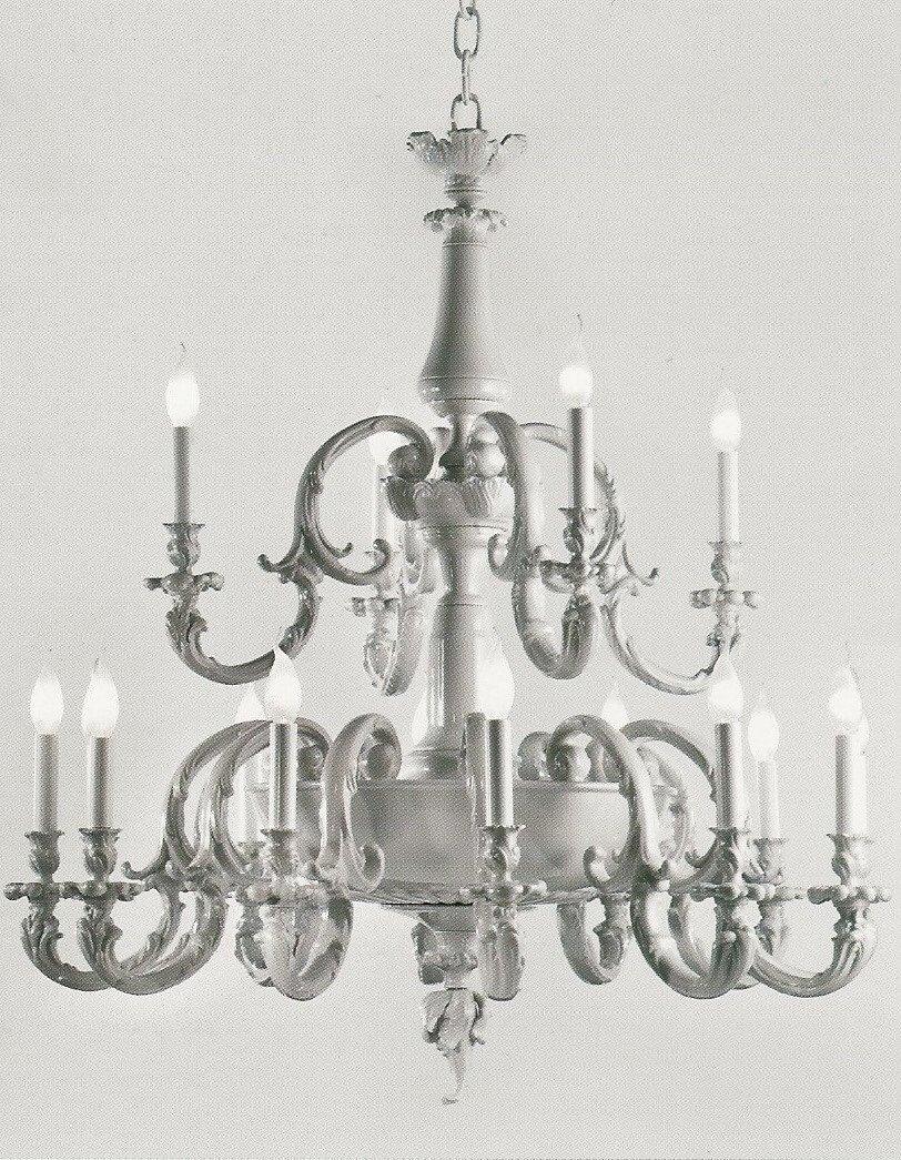 Lampadario in porcellana mangani 1958