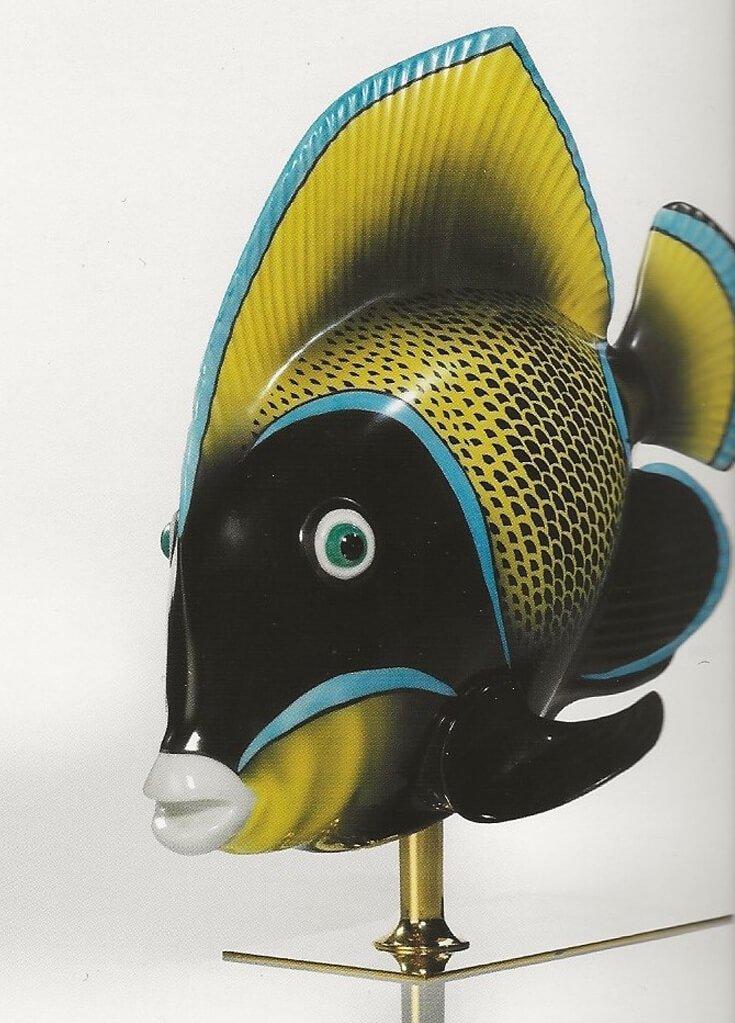 Pesce pilocromo decorato a mano copia