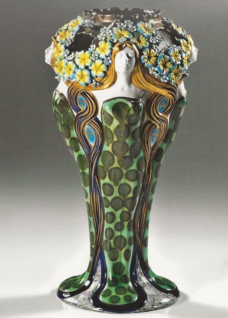 vaso in stile Liberty copia